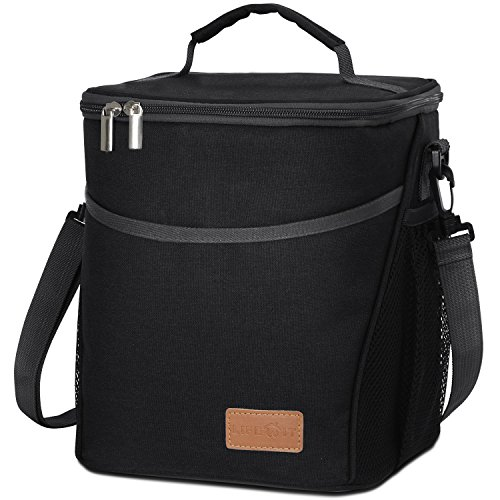 Lifewit Insulated Lunch Box Lunch Bag for Adults  Women  Men Large Capacity Thermal Bento Bag for Office  School  Picnic 9L Black