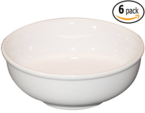 Cameo Ceramic Soup and Cereal Bowl with Pan Scraper 725 Inch 38 Ounce Set of 6 White Ivory