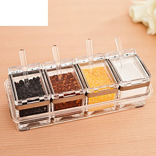Kitchen Spice jar set creative spice box seasoning jars salt shakerKitchen supplies four set