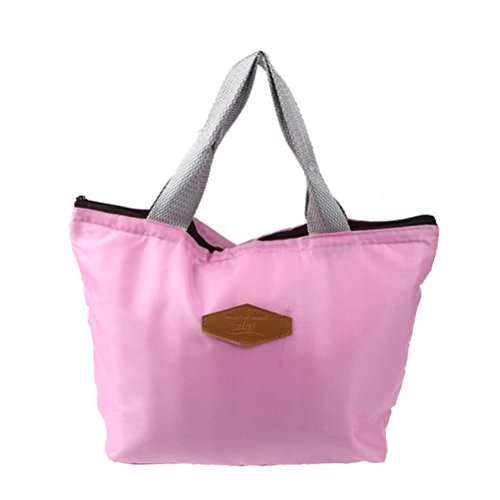 Lunch Bags Doinshop Waterproof Portable Picnic Insulated Food Storage Box Tote Bag Pink