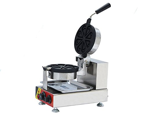 Generic Commercial Use Nonstick 110v 220v Electric 180° Rotating Chocolate Ice Cream Waffle Flower Baker