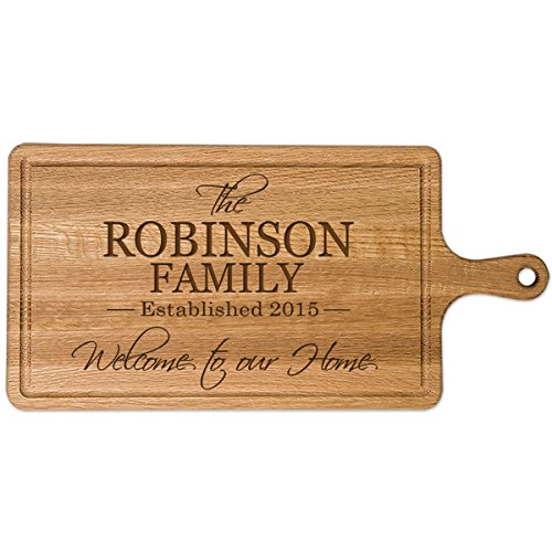 Personalized Family Sign Cherry wood Cutting board with Established Year and Family last Name Custom Kitchen chopping block Family Gift Ideas 1575 x 75 by Dayspring Milestones