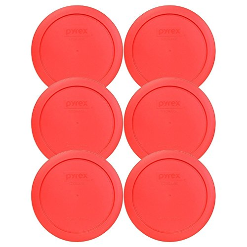 Pyrex 7201-PC Round Red 65 4 Cup Lid for Glass Bowl 6 Pack