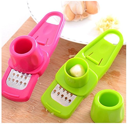 HUAJI Manual Ginger And Garlic Grater for Kitchen Tool -Red