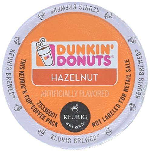 32 Count - Dunkin Donuts Hazelnut Flavored Coffee K-Cups For Keurig K Cup Brewers 2 boxes of 16 k cups