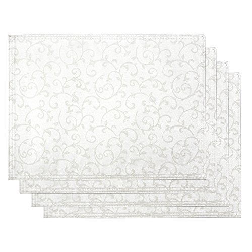 Lenox Opal Innocence Set of 4 Placemats White