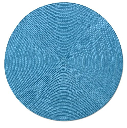 TAG Round Woven Teal Place Mat Set of 4 205154