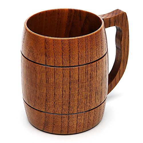 Beer Mug 16 OZ Handmade Eco-friendly Wooden Mugs With Handle For WineCoffeeTea Best Gift Cups For MenWomen
