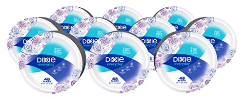 Dixie Everyday Paper Plates 8 12 Inch Plates 480 Count 10 Packs of 48 Plates Designs May Vary