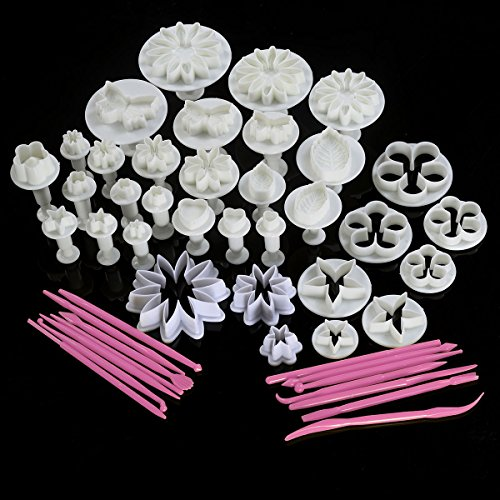 Super buy 47pcs Cake Decoration Mold Tools Set Sugarcraft Icing Cutters Plungers New