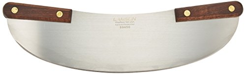 Lamson Pizza Rocker Knife 13 Stainless Steel with Riveted Walnut Handle
