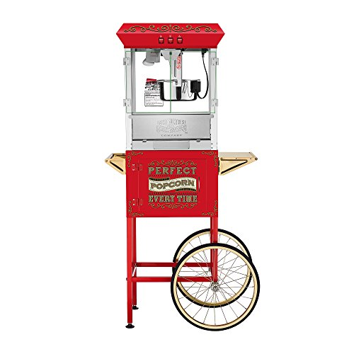 Great Northern Popcorn 5995 10 oz Perfect Popper Popcorn Machine with Cart - Red