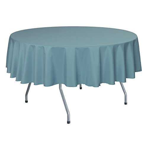 Ultimate Textile 2 Pack 60-Inch Round Polyester Linen Tablecloth - for Wedding Restaurant or Banquet use Slate Blue