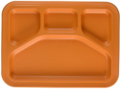 Green Eats Divided Tray Orange