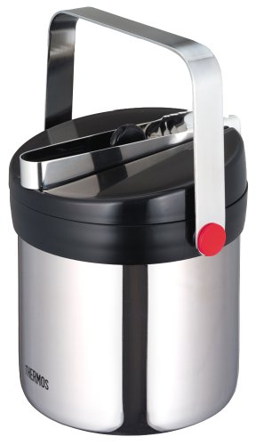 Thermos Vacuum Insulated Ice Bucket 13L Stainless Black JIN-1300 SBK