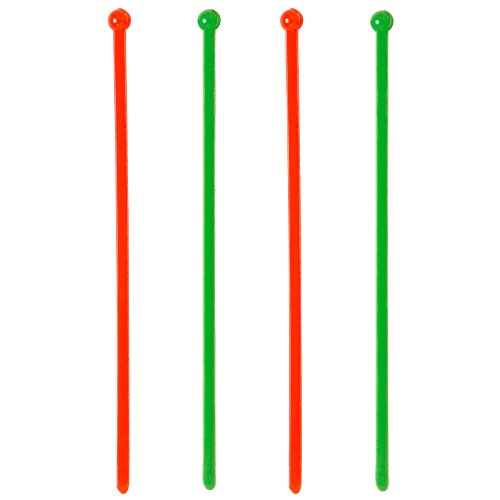 Soodhalter Christmas Stir Stix 50 Red Green Plastic Swizzle Sticks 6 Inch Beverage Stirrers