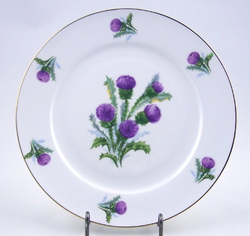 Fine English Bone China Salad Plate - Thistle Chintz - Springfield China - England