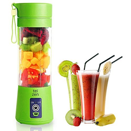 Personal Blender Portable Protein Powder Supplement USB Juicer Cup by Teizen Fruit Mixing Machine Rechargeable 380ML Bottle