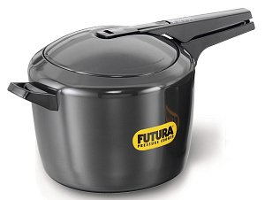 ORIGINAL FUTURA BY HAWKINS 5 LITRE HARD ANODISED ALUMINIUM PRESSURE COOKER WITH DHL SHIPPING 4-5 DAYS DELIVERY