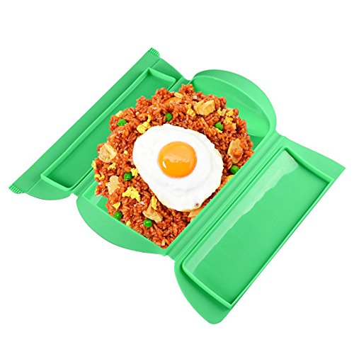 UNAKIM-Portable Lunch Box Kitchen Microwave Oven Steamer Steamer Food Cooking Bowl Hot