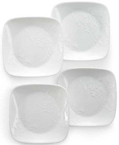 Corelle Dinnerware Dessert Plates Set Square Boutique Cherish 65\u201d Set of 4  sc 1 st  Best For Your Kitchen & Top 18 Corelle Plates