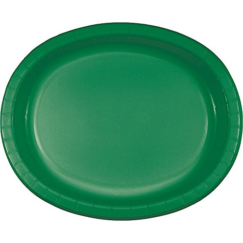 Club Pack of 96 Emerald Green Disposable Paper Party Banquet Dinner Plates 12