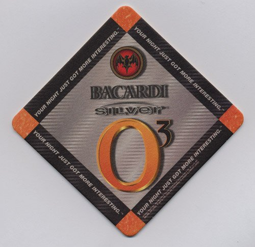 Anheuser-Busch Bacardi Silver O3 Your Night Just Got More Interesting Paperboard Coasters - Sleeve of 50