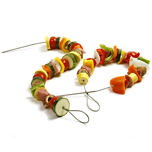 30 Inch Bendable - Portable Barbecue Skewers - Reusable BBQ Sticks- Shish Kabob Skewers - BBQ Tool 30 Inches 4 Pack – Perfect for Tailgate Parties - Camping Cookware Campfire Grill Cooking