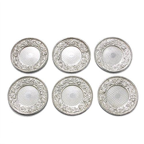Repousse by Kirk Sterling Butter Pat Set of 6