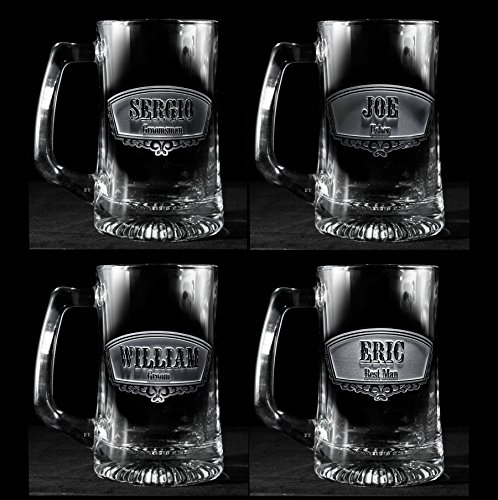 Groomsmen Gift Ideas Best Man Beer Mugs Set of 13
