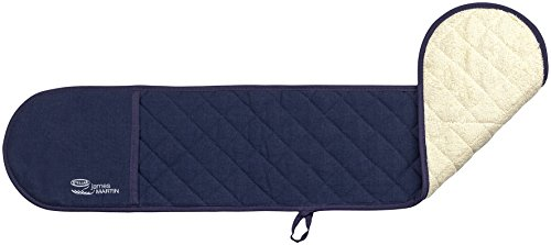 Stellar James Martin Kitchen Textiles Thermal Padded Double Oven Mitt in Blue