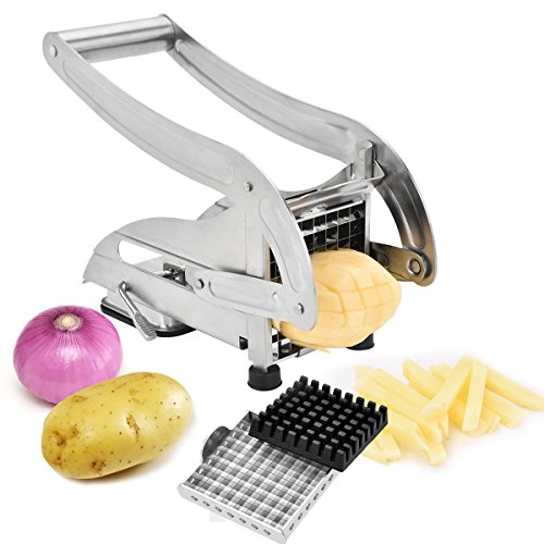 French Fry Cutter  Zoel Fry Maker With 2 Stainless Steel Blades for Potato Onion and other Veg into Finger Sticks