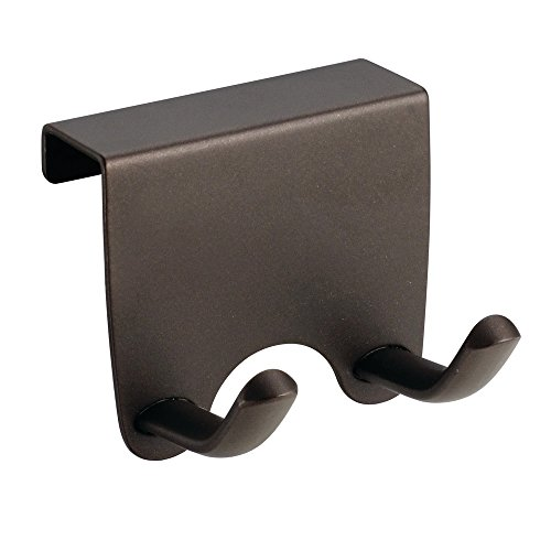 InterDesign Axis Over-the-Cabinet Hook for Dish Towel and Oven Mits Bronze