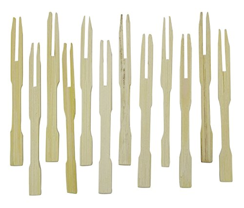 Wooden Flatware Cocktail Party Buffet Mini Forks Sandwich Appetizer Tooth Picks