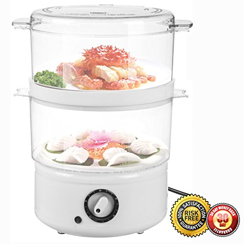 New Electric Kitchen Food Steamer Steaming Bowl Cooking Meal Vegetable Veggie Home
