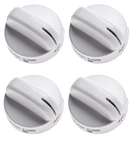 4 Pack 8273104 WP8273104 PS393679 Burner Knob Compatible with Whirlpool Oven
