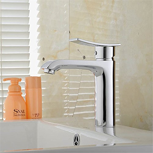 FHLYCF The single European modern copper single hole basin faucet toilet basin wash basin of cold and hot water tap water