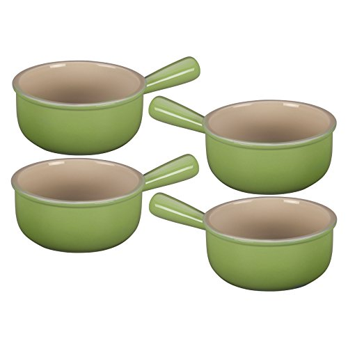 Le Creuset Palm Stoneware French Onion Soup Bowl Set of 4