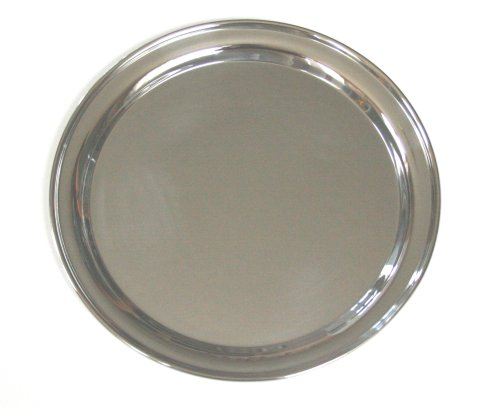 14 Inch Round Stainless Steel Serving Tray