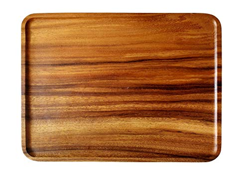 Acacia wood serving tray for breakfast in bedottomanparty personalized for home decoration in barextra large sizebrown color 30x40