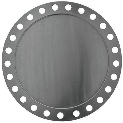Round Stainless Steel Platter Futuristic Display 14 12L
