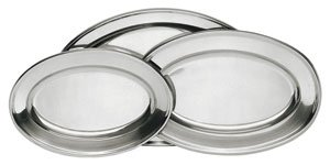 Stainless Steel Serving Platter Set 3-Pack Assorted Sizes