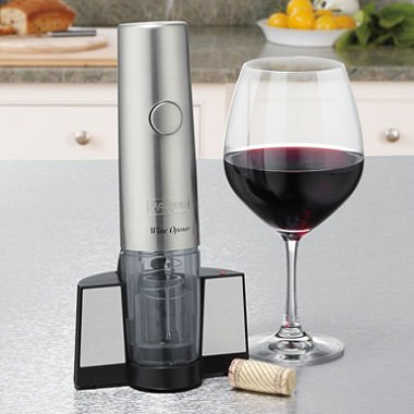 Waring Pro Professional Cordl Electric Wine Opener BPA with Foil Cutter Brushed Stainless Steel