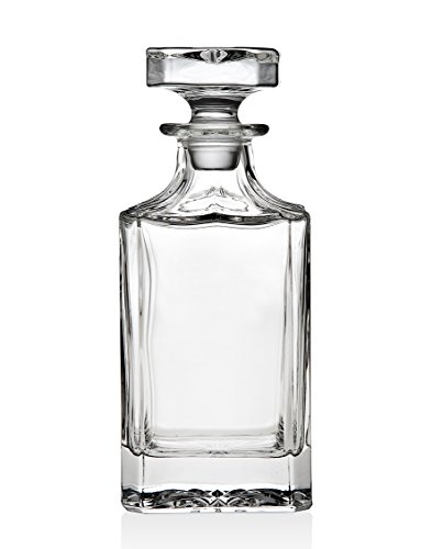 Godinger Silver Art Clarion Square Non-leaded Crystal Whiskey Decanter With Glass Stopper