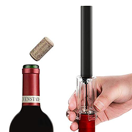 FairOnly Wine Air Pressure Pump Bottle Opener  Foil Cutter  Amazingly Simple Wine Opener Air Pressure Wine Opener  Wine Pump Easy Cork Remover Corkscrew  Screw Out Tool  Great for Wine Lovers