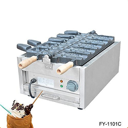 Commercial Non-stick 110V 220V Electric Ice Cream Taiyaki Fish Waffle Maker Iron Baker Machine