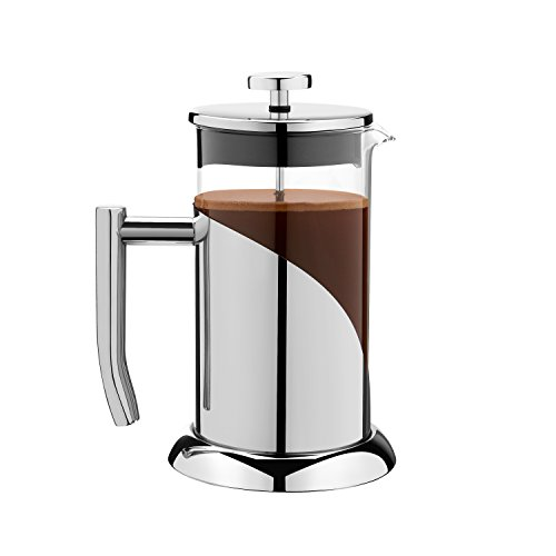 Sofias Treasures Stainless Steel Angelica French Press Coffee Maker Tea Press 34 oz with Guide and Coffee Scoop