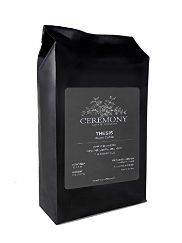 Ceremony Coffee Roasters - Thesis House Blend - Specialty Whole Bean or Ground Coffee- 2lb Bag Whole Bean