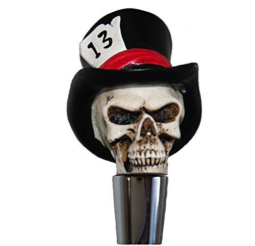 Commercial Quality Zombie Top Hat Skull Beer Tap Handle for Kegerators and Bars Dead Skeleton Walking