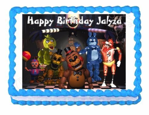 Five nights at Freddys FNaF party edible cake image cake topper frosting sheet 1